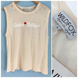 💋Wildfox | Sweet Talker Distressed T- Shirt